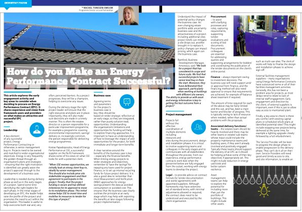 "RT @EMEXLONDON Great article ""how do you make an energy performance contract succesful"" by Rachel Toresen-Owour of @LP_localgov in the latest issue of the @EMA_org magazine.  Have you read it yet?  #energyperformance #energyperformancecontracting #energymanagement #emexlondon #esos #energyaudit"