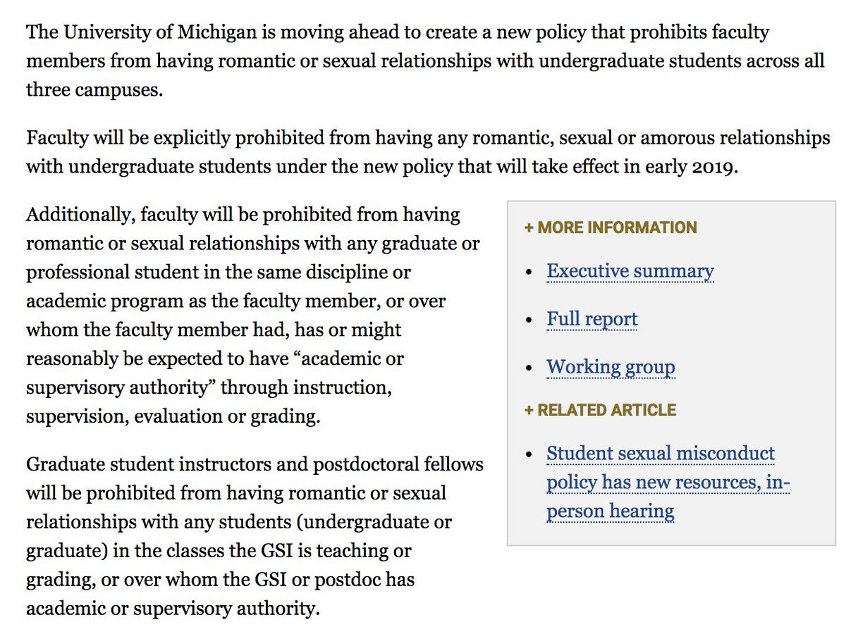 Glad to see this, and that it includes faculty-grad student relationships beyond advisor-advisee relationships.