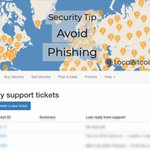 Image for the Tweet beginning: Beware of phishing! If you