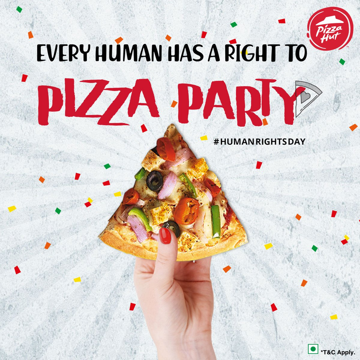 Today, we celebrate our right to enjoy pizza, whenever, wherever HumanRightsDay https t.co Cj6OTNlr73