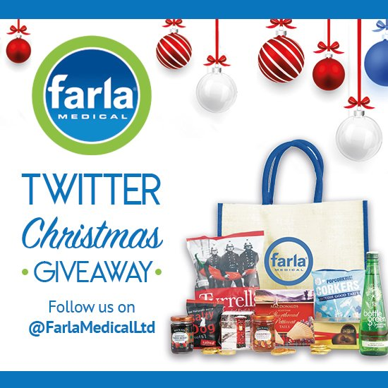 Special CHRISTMAS GIVEWAY  For the chance to WIN  Farla Christmas HAMPER. Follow us @FarlaMedicalLtd, then RT &amp; LIKE the post. Conditions apply UK mainland only (Contest ends Sunday 16th 11:59 GMT) Good luck! #giveway #givewayconstest #LikeToWin #freebies<br>http://pic.twitter.com/HRWu5f5VFC