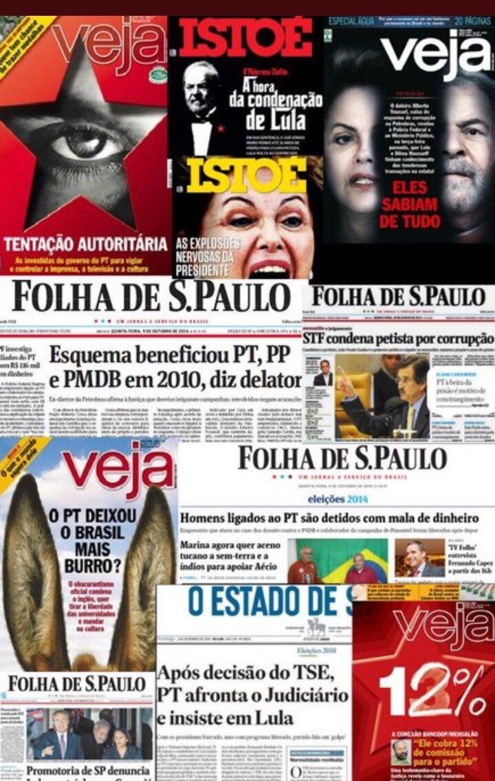 O povo do Bolsonaro diz q o PT roubou milhões e ninguém falava nada, mídia esquerdista