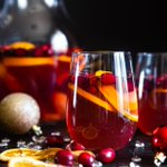 Image for the Tweet beginning: ICYMI!>> Sparkling Holiday Champagne Sangria!