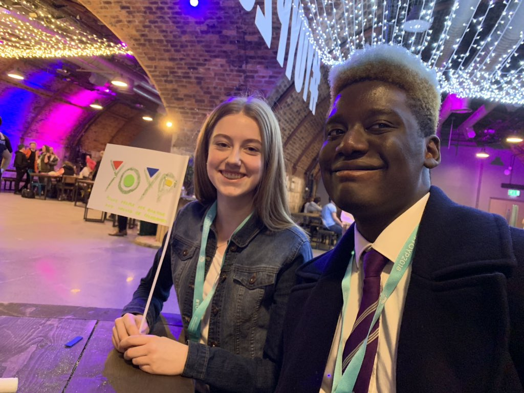 This pair didn't really know each other before today... now they're best pals. They also think young people are amazing. What today's all about folks! 🙌😀 #YOYP2018
