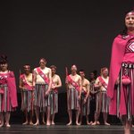Image for the Tweet beginning: Draped in bright pink kākahu