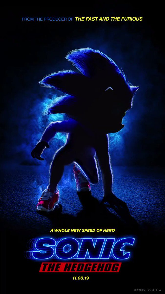 Sonic The Hedgehog's first movie poster has been revealed! Coming November 8, 2019 #SonicMovie