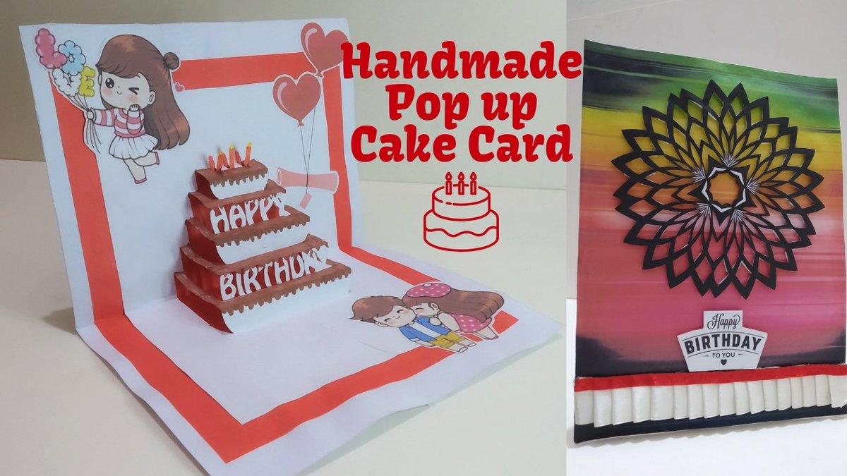 DIY Cake Pop Up Card For Birthday HandmadePopUpCard DIYCakePopUpCardforbirthday Easy3DCardsDIY BirthdayTheme Popupcardtutorial Handmade