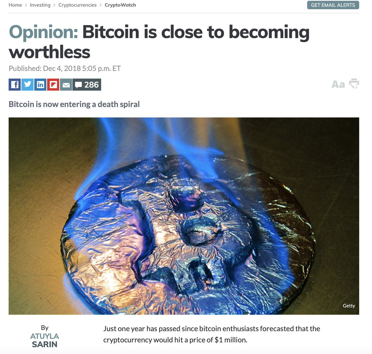 becoming worthless bitcoin