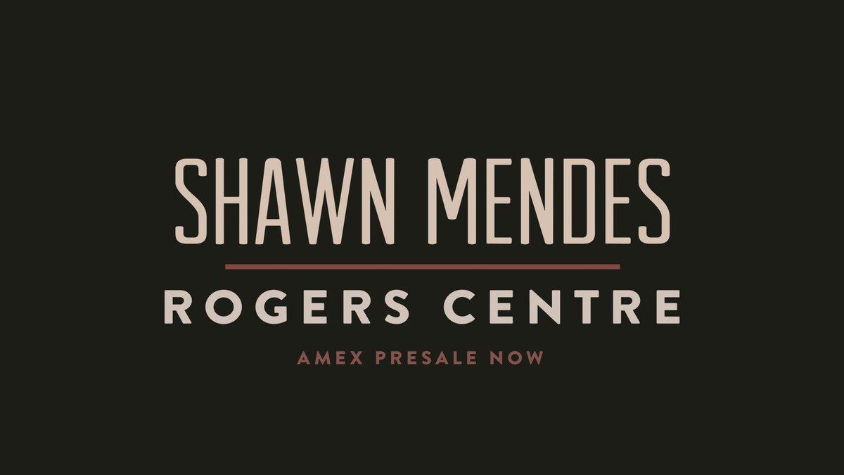 AMEX presale is happening now! ShawnStadium.com