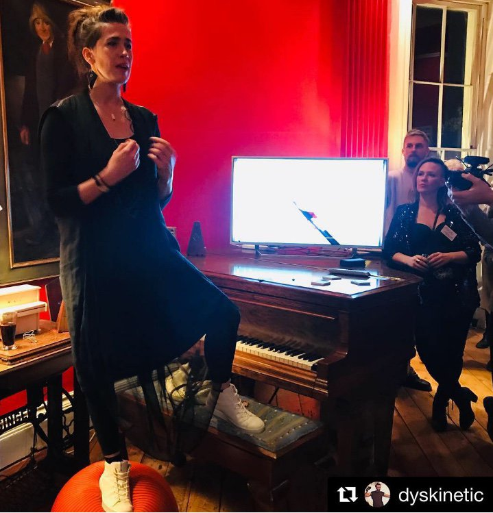 Exciting soft launch of #ImogenHeap #CreativePassport last night. I'm all signed up to the brilliant @mycelia4music app along with pal @Alev_Lenz ! Musicians/music makers have to check this out! Cheers to the future of music 🎶⚡️🙌 #MyCeliaformusic #musictech 📸 by @krishalpin