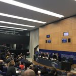Image for the Tweet beginning: #EPlenary briefing by the #EP
