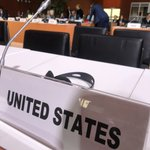 """Honored to speak at the #GlobalCompactForMigration conference in Marrakech but disappointed that the US government is absent from these talks. On this and so many other pressing international issues, the seat marked """"United States"""" is empty."""