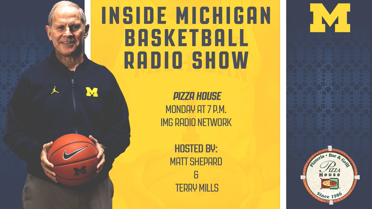 Join head coach @JohnBeilein tonight at the Pizza House at 7 p.m. for the Inside Michigan Basketball Radio Show!  #GoBlue <br>http://pic.twitter.com/cEL5kwTcYu
