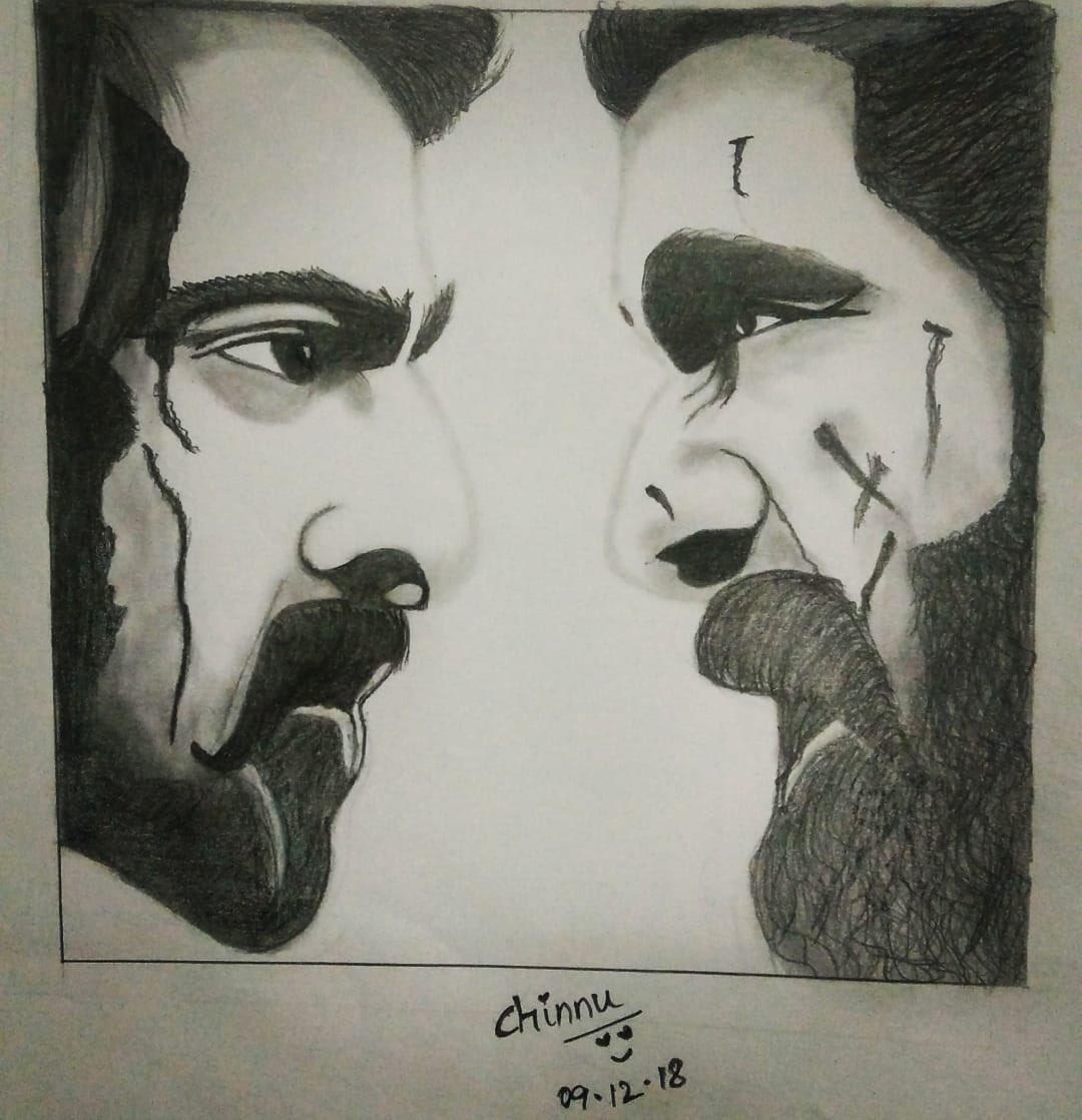 my frnd big fan of urs @RanaDaggubati drew dis yesterday. Thot it deserves a lyk 4m u. Pls do lyk it 😀😀