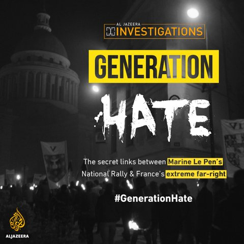 @AJIunit Exposing the close ties between violent extremists and Marine Le Pen's National Rally party.  @AJIunit  investigates France's far-right. Follow the story ahttps://t.co/a1kUXik1EDt  #GenerationHate |  https://