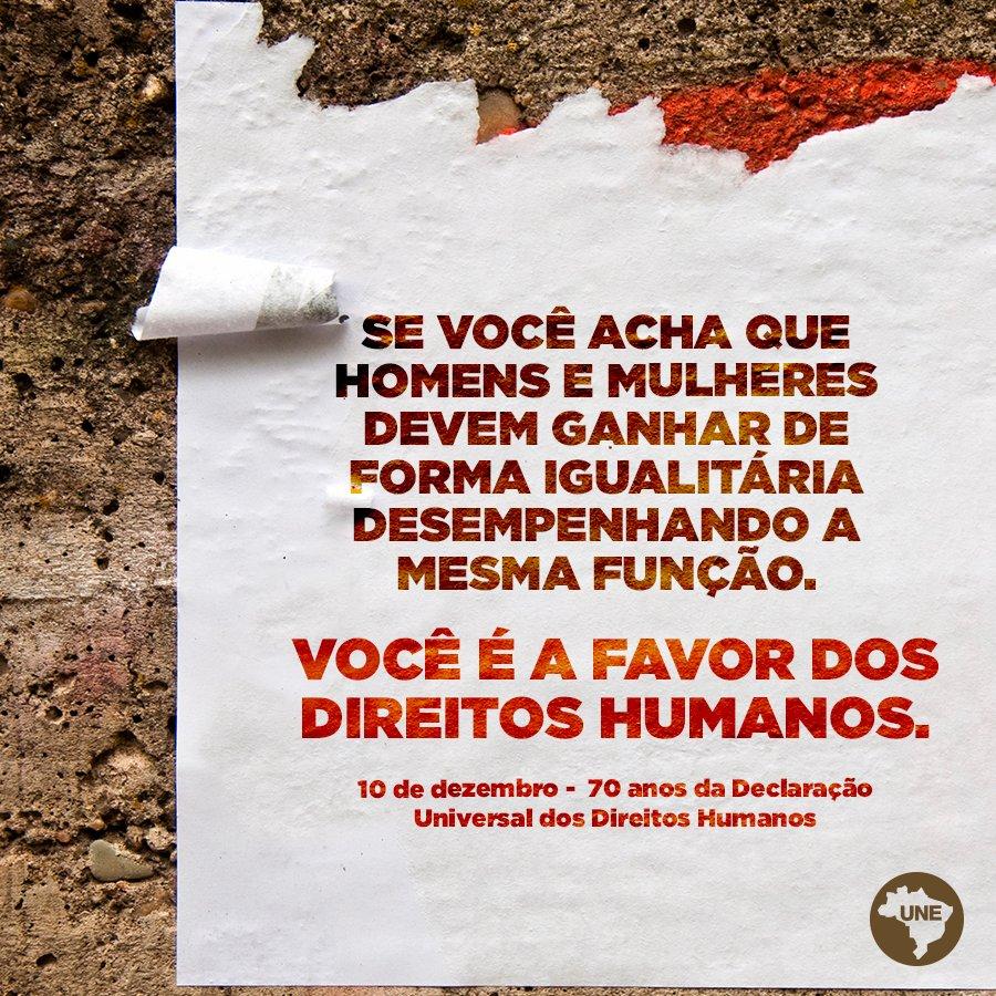 Há 70 anos, foi proclamada a Declaração Universal dos Direitos Humanos. É o documento que melhor representa nossas maiores aspirações à civilidade. Você sabe quais são os 30 artigos do documento? Veja: https://t.co/Q3yVgzOrEZ #DireitosHumanos #70anos