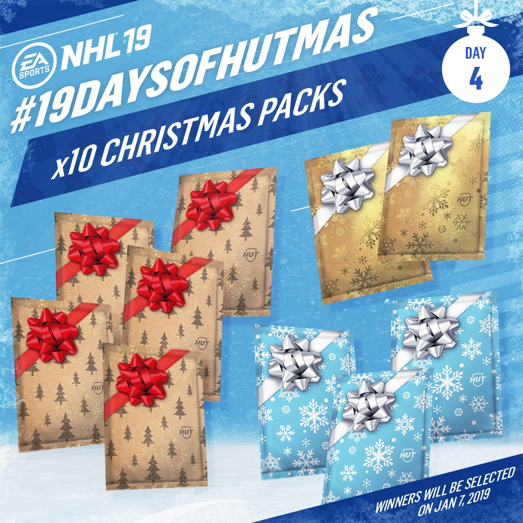 Day 4: Need a boost to your HUT team? RETWEET for your chance to win x10 Christmas packs! #19DaysofHUTmas