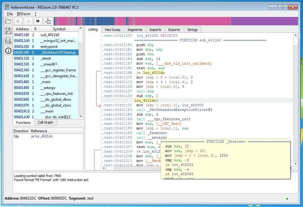 redasm #disassembler 2 0 RC3 released for #windows and