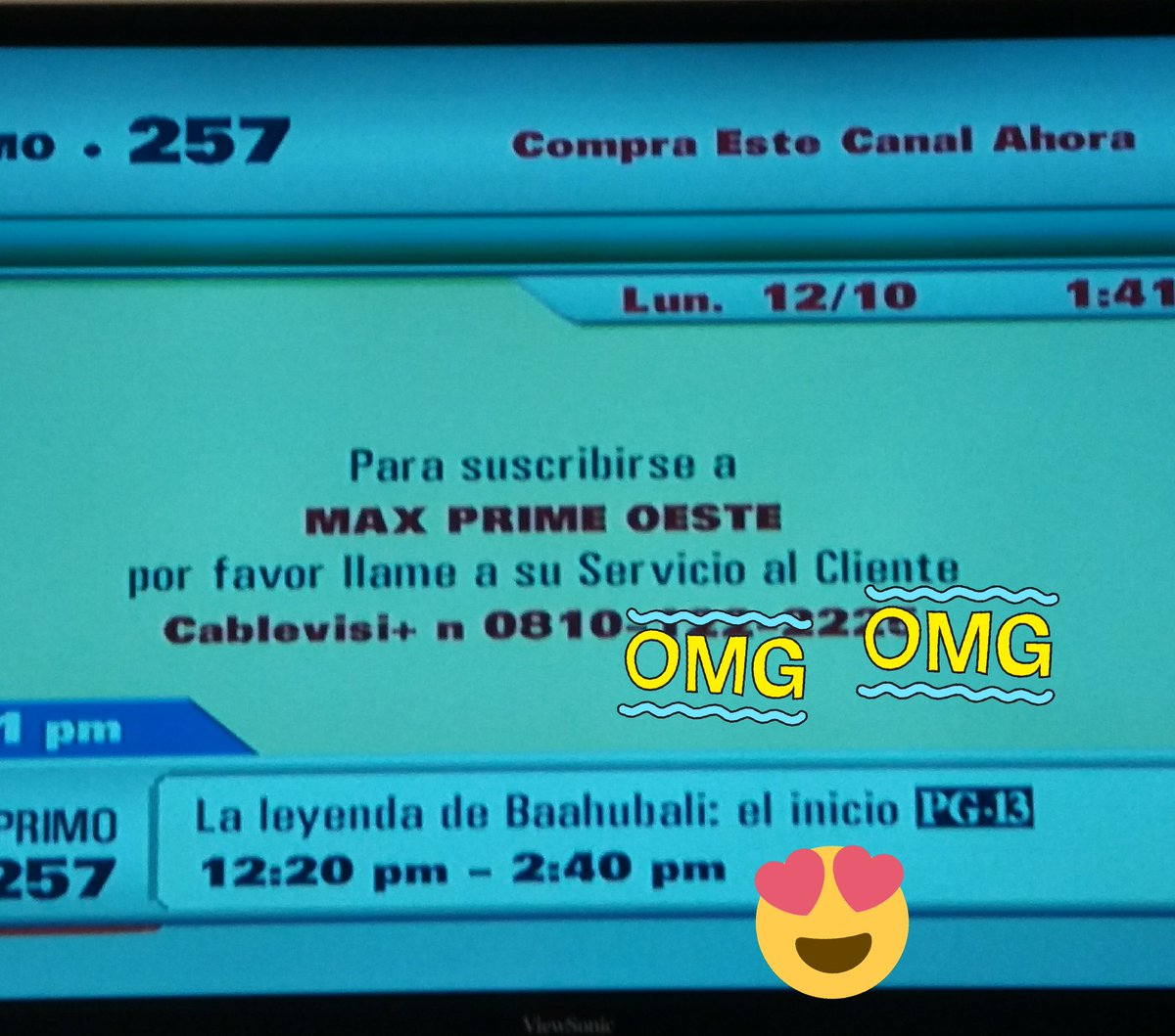 I was changing the channel and I find that my favorite movie @BaahubaliMovie is happening and I can not see it, its very Monday today😕In Argentina. @RanaDaggubati Please🙏🙏,if you say hello,Im happy Monday and all week,etc.Kisses🤗😉