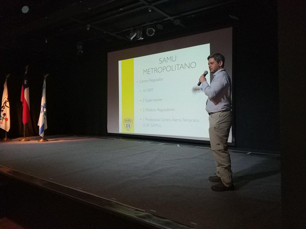 RT @Samumetropolita Nuestro Subdirector Médico, Dr. Edison Montes, explica cuál es la  forma en que el SAMU Metropolitano responde a un Incidente de Múltiples Víctimas (IMV) // Taller Internacional de Gestión de IMV, organizado por SAMU Metropolitano, @Muni_LasCondes y @IsraelinChile