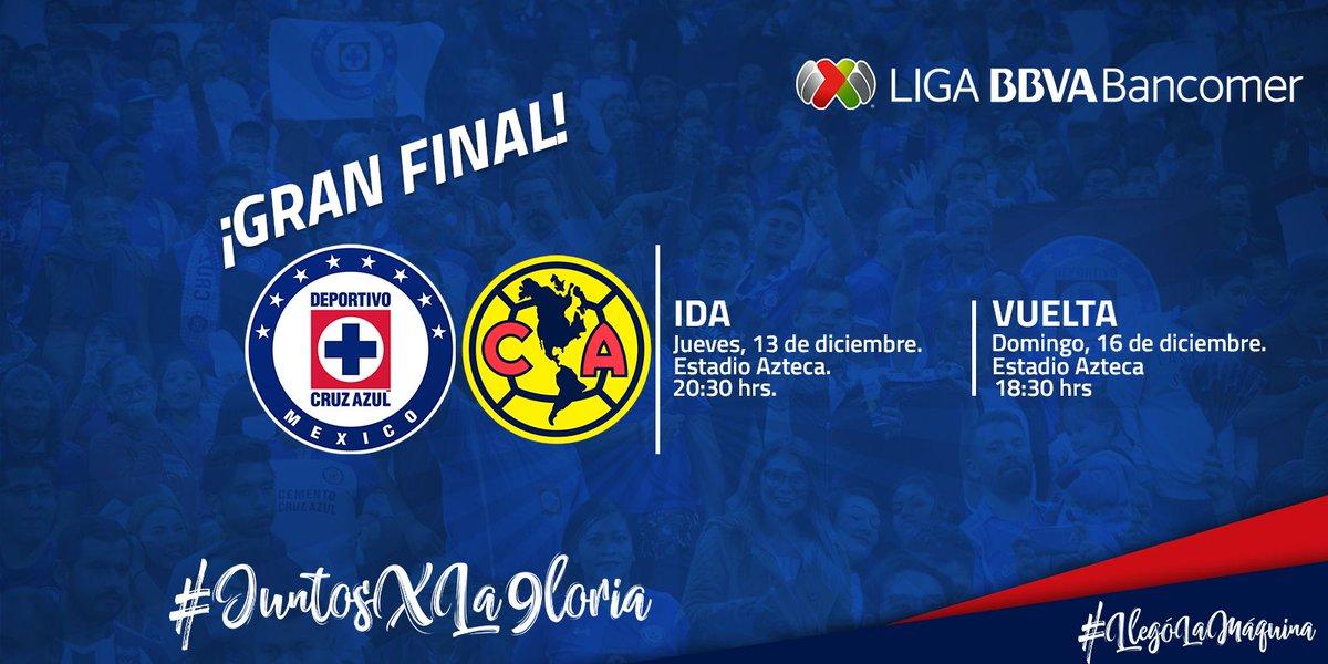 Se han confirmado los horarios para la Gran Final en el @EstadioAzteca, nos vemos el domingo en nuestra casa.  #JuntosXLa9loria