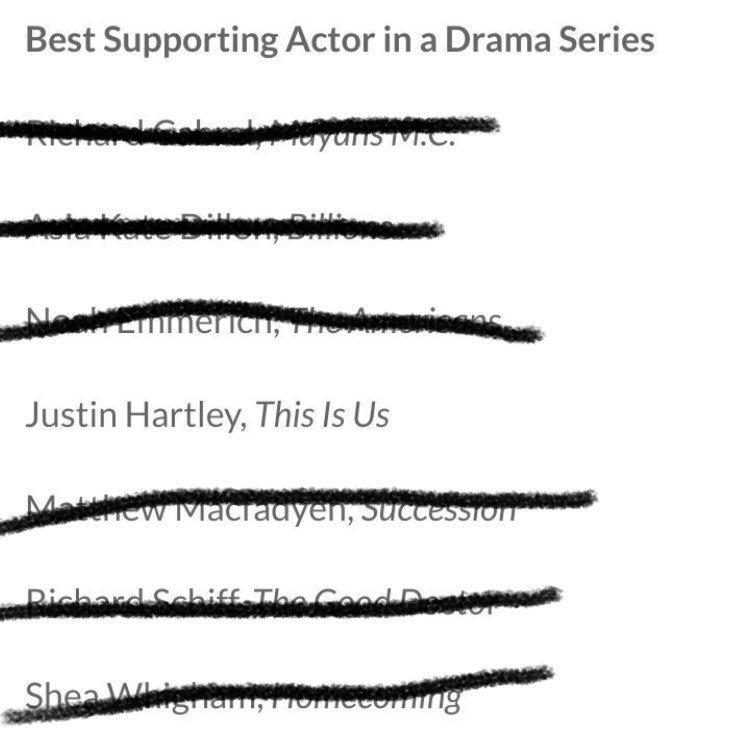 Yooooooo!!! @justinhartley looks like we have a ton to celebrate soon! Congrats on the #CriticsChoice nom! 🔥🔥🔥🔥