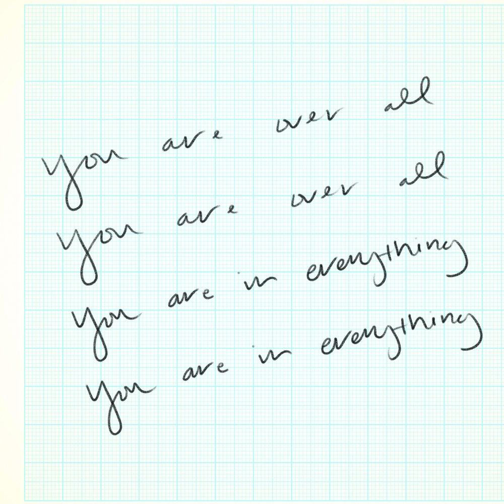 """you are in everything, you are in everything. you are over all, you are over all.  listen to """"One' now: https://t.co/IP6gT4XTPv"""