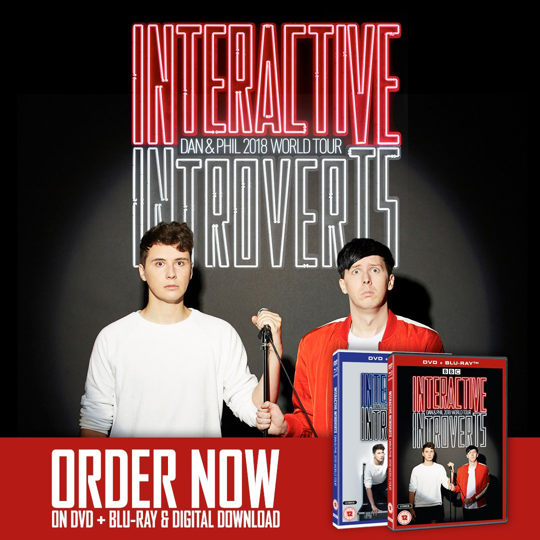 the new film of our stage show 'interactive introverts' is out now! two emotional hours of banter with dan and phil giving the people what they want. get it here: https://t.co/TkyRGpOhil