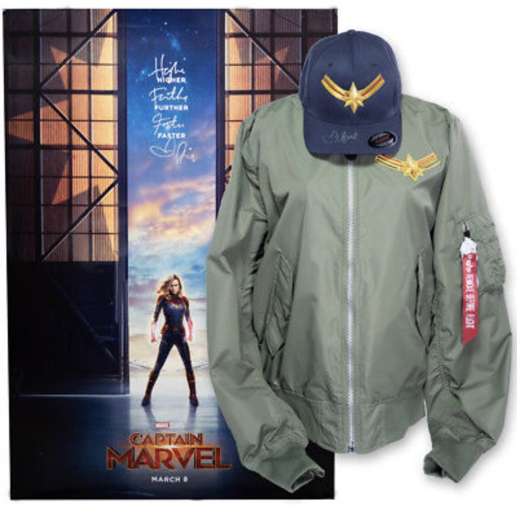 Calling all #Marvel fans! Im auctioning off a one of a kind #CaptainMarvel package on @ebay. 100% of proceeds benefit @TIMESUPLDF! Head to ebay.com/timesup to check out everything included in the package and bid today. #ebayforcharity