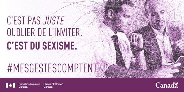Agissez. Suscitez des changements par votre exemple. #MESGestesComptent @Femmes_Canada https://t.co/Kndx8GQ53P https://t.co/4u5WTmT64W