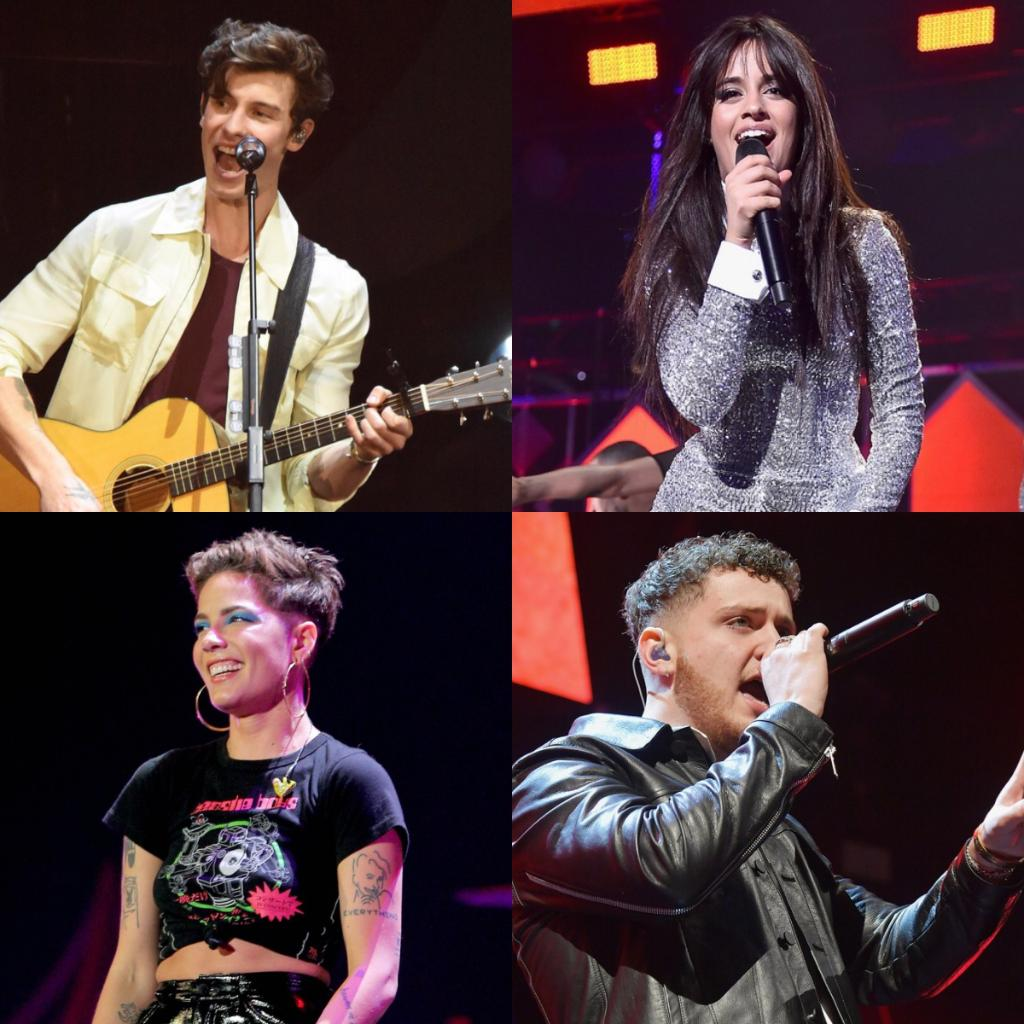 Just announced! @ShawnMendes @Camila_Cabello @halsey & @bazzi will be performing at New Year's #RockinEve! @NYRE