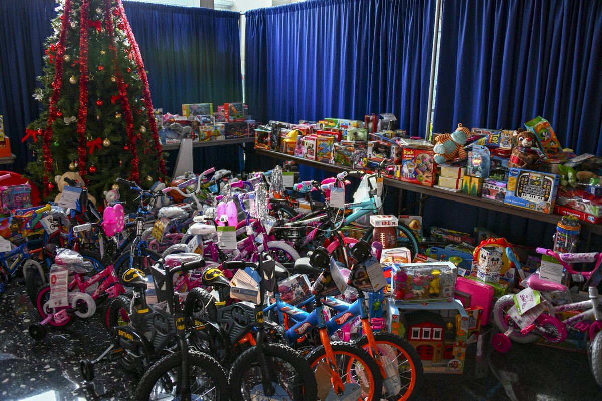 """A photo of toys donated by State Department employees for """"Toys for Tots"""" at the U.S. Department of State in Washington, D.C. on December 10, 2018. [State Department photo by Ron Przysucha/ Public Domain]"""