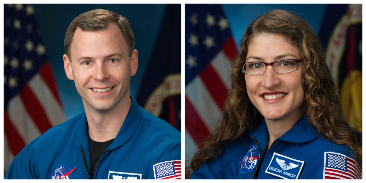On Dec. 12 at 2 pm CT, we'll host a news conference with @Astro_Christina &  to @AstroHaguediscuss their first mission to the space station, scheduled for Feb. 2019. Questions for the astronauts? Submit yours with the hashtag , th#AskNASAen tune in at !https://t.co/cBNqC5JGaz