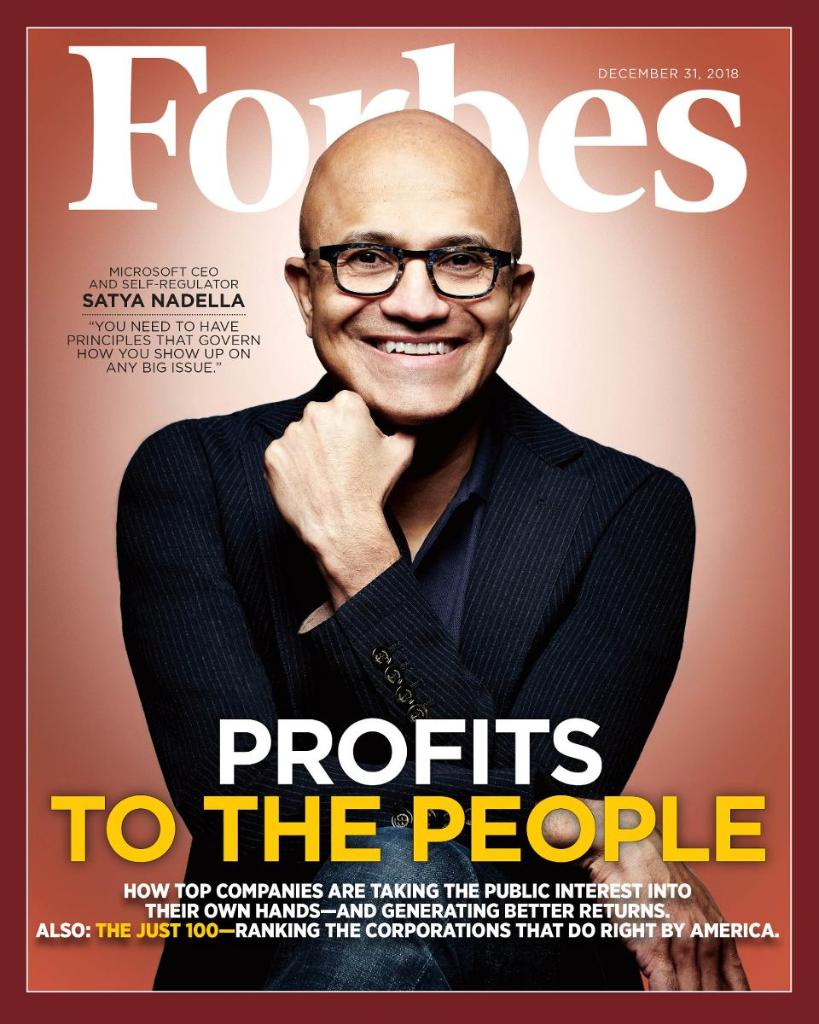 In 4 years, CEO Satya Nadella has transformed Microsoft from tech has-been to high-flier—and the most valuable company in the world https://t.co/yb0XlWFvsl #Just100
