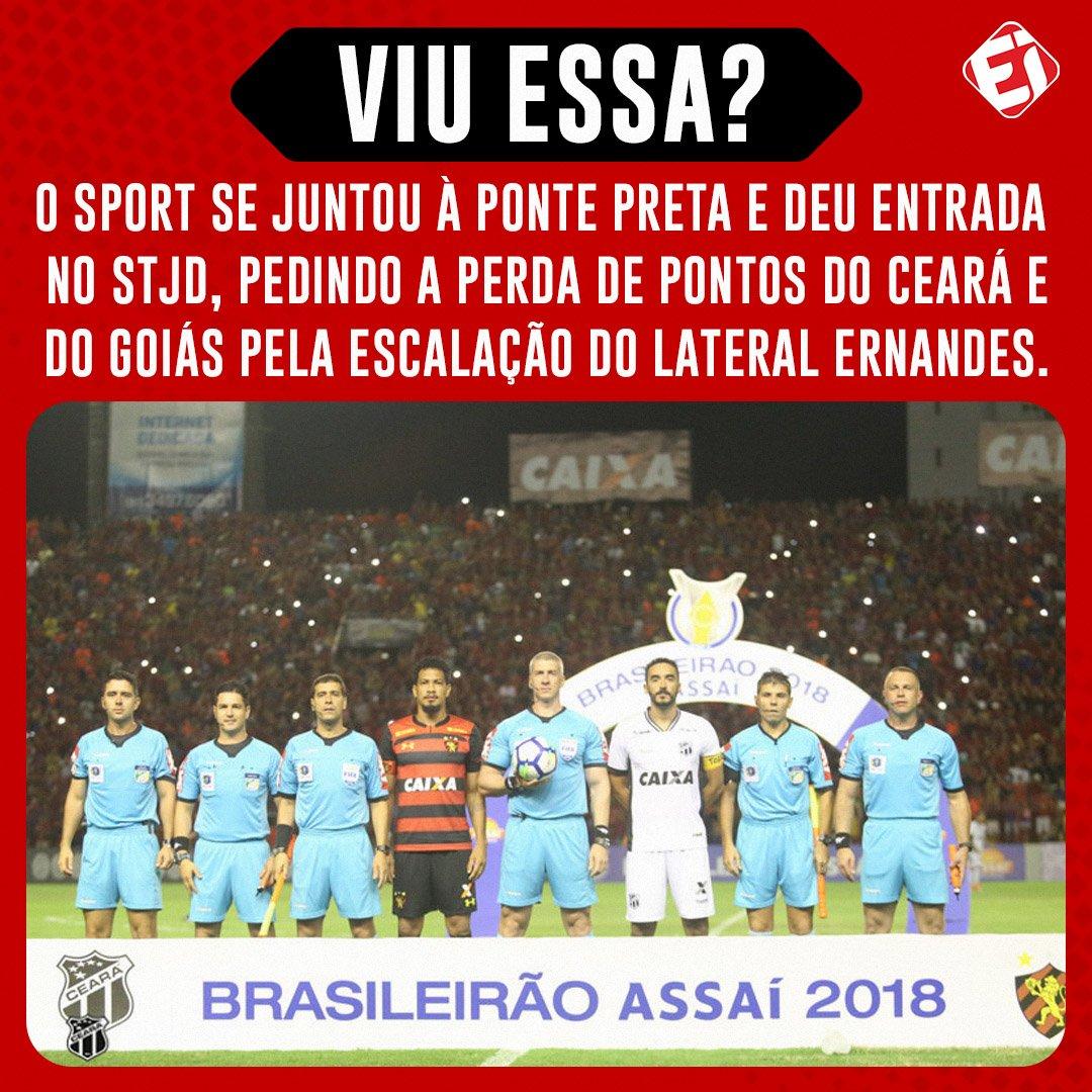 👀 Uma punição aos clubes reverteria o rebaixamento do Sport para a Série B do Campeonato Brasileiro em 2019.