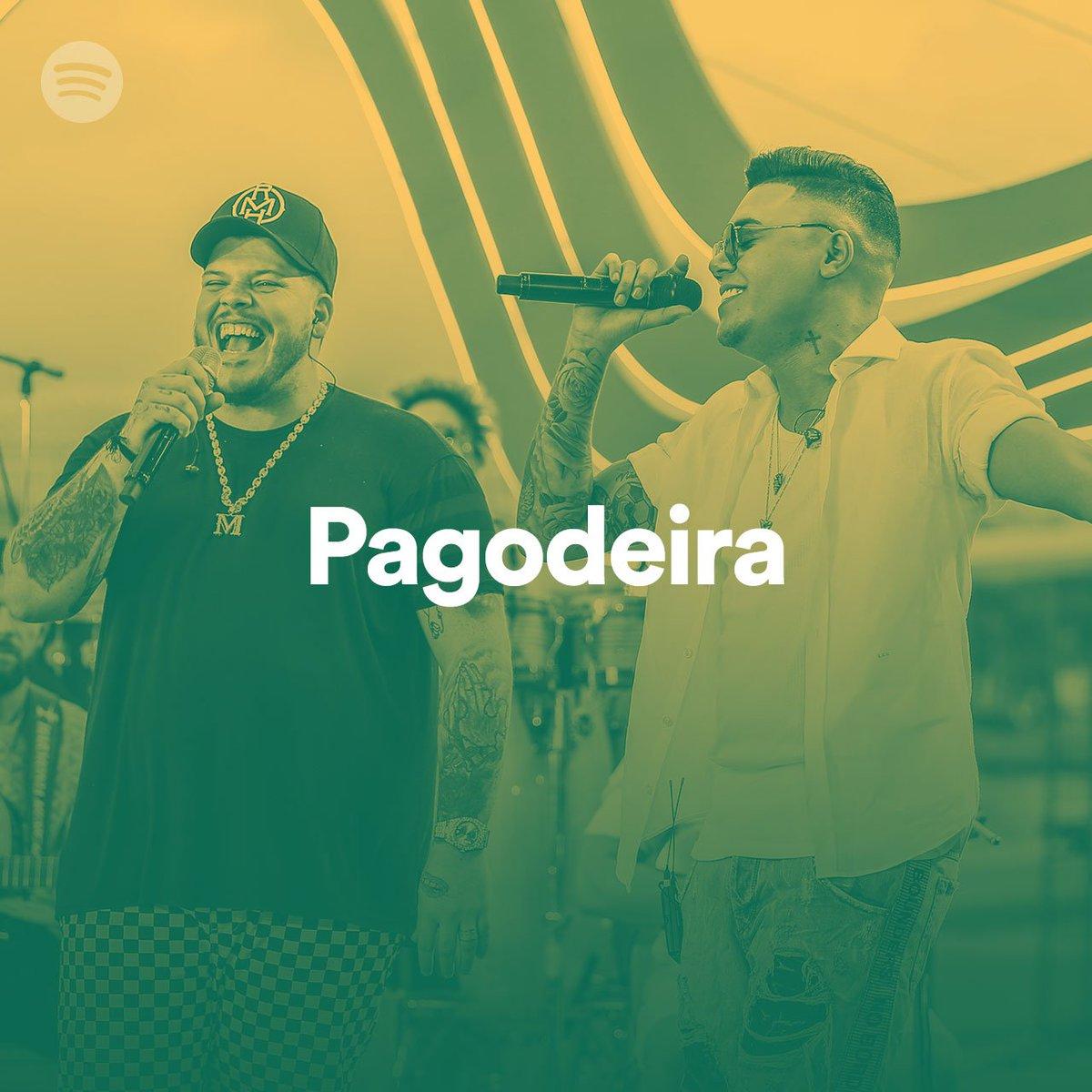 """Hoje o dia está repleto de coisas boas, e tem mais uma, a #Atrasadinha está em destaque na playlist """"Pagodeira"""" no Spotify. Esse dia tá incrível, né não?! 😃 👉🏽 http://bit.ly/PlaylistPagodeira… #FelipeAraújo #PorInteiro"""