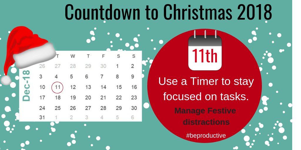 Be productive this December with our #countdowntochristmas A productivity tip each day to help you smash it this year!  #christmas #planning #productivity #TuesdayThoughts