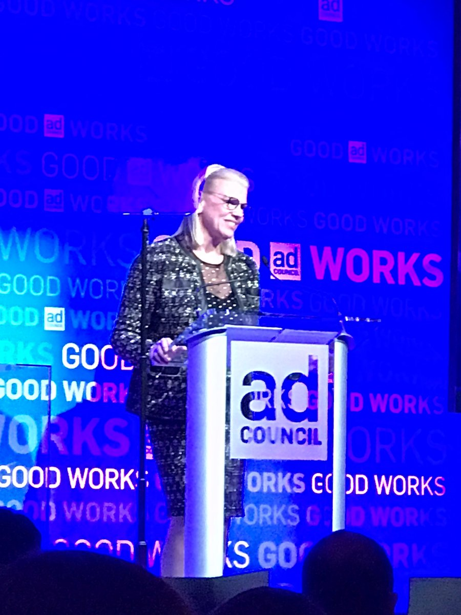 Had a great time at the @AdCouncil Gala last week. Here's a photo I snapped of the boss @GinniRometty!