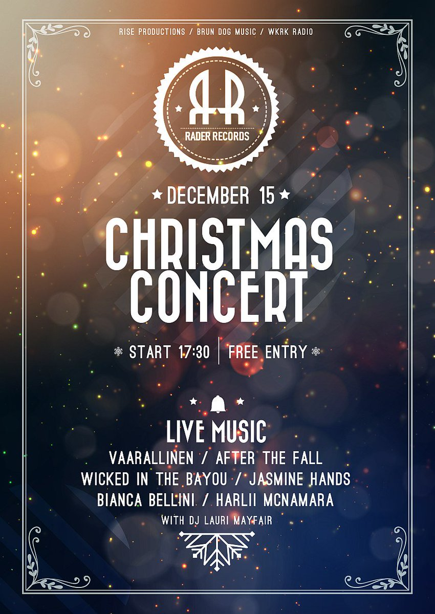 Christmas Concert at Rader Records