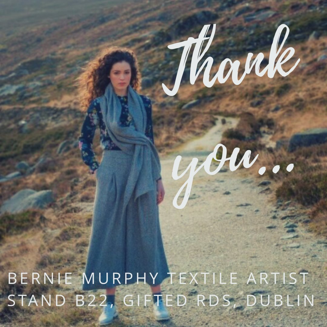 Back home again in Buncrana, Co. Donegal. A big thank you to all who came & visited my Stand B22 @giftedrds over the five days.  It's was great to hear such positive feedback & everyone's love for Donegal tweed!  Wishing you all a wonderful Christmas & a happy 2019!  #thankyou