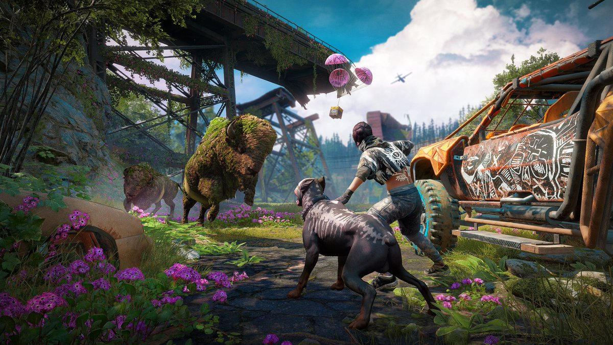A beautiful post-apocalypse blooms from the ashes of Far Cry 5. Return to a transformed Hope County in the standalone sequel, Far Cry New Dawn, on February 15: play.st/2SzsOiK