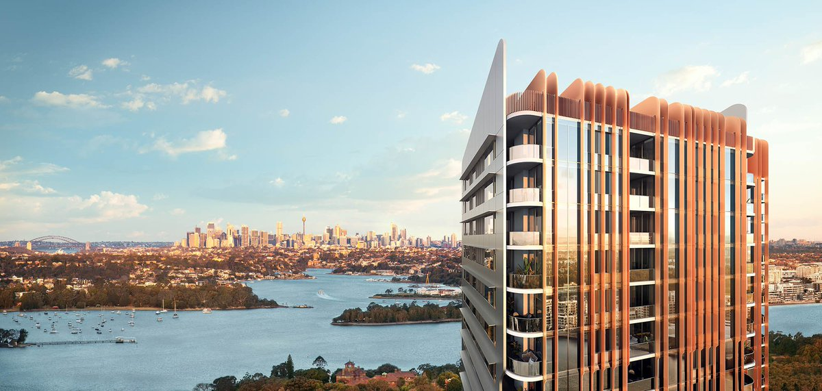 Elevated above the urban hum and winding waterways below, the luminous tower forms a shimmering new landmark and luxurious sky-high home.  Visit our Display Suite and learn more about Rhodes Central Stage 3 at  https://t.co/MkePk2L4Uf  #newresidential #apartments #luxuryliving