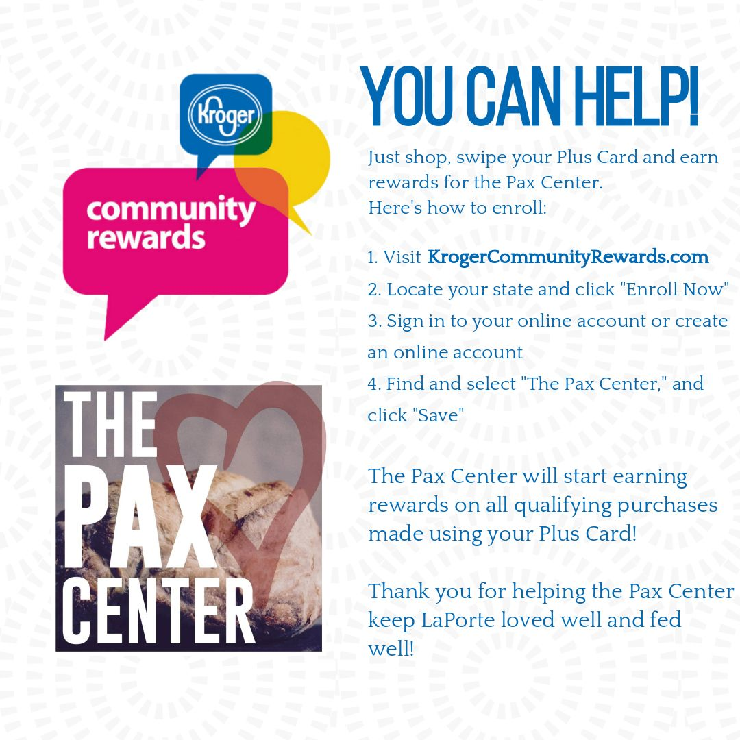 All you have to do is register with your Plus Card, and Kroger will automatically donate a portion of your purchase to the Pax Center.pic.twitter.com/ ...