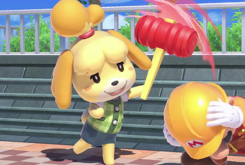 if you knock out isabelle in smash it will be considered a crime against humanity and you will have to go to jail sorry I dont make the rules