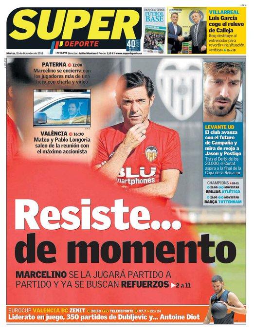Buenos días | Bon dia 🙂 La portada de nuestra edición impresa de este 11 de diciembre #FelizMartes Photo