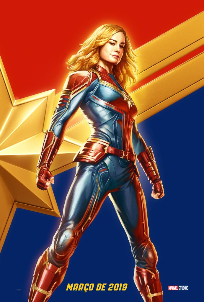 Check out the new #CaptainMarvel poster Brie Larson revealed at Brazil Comic Con.