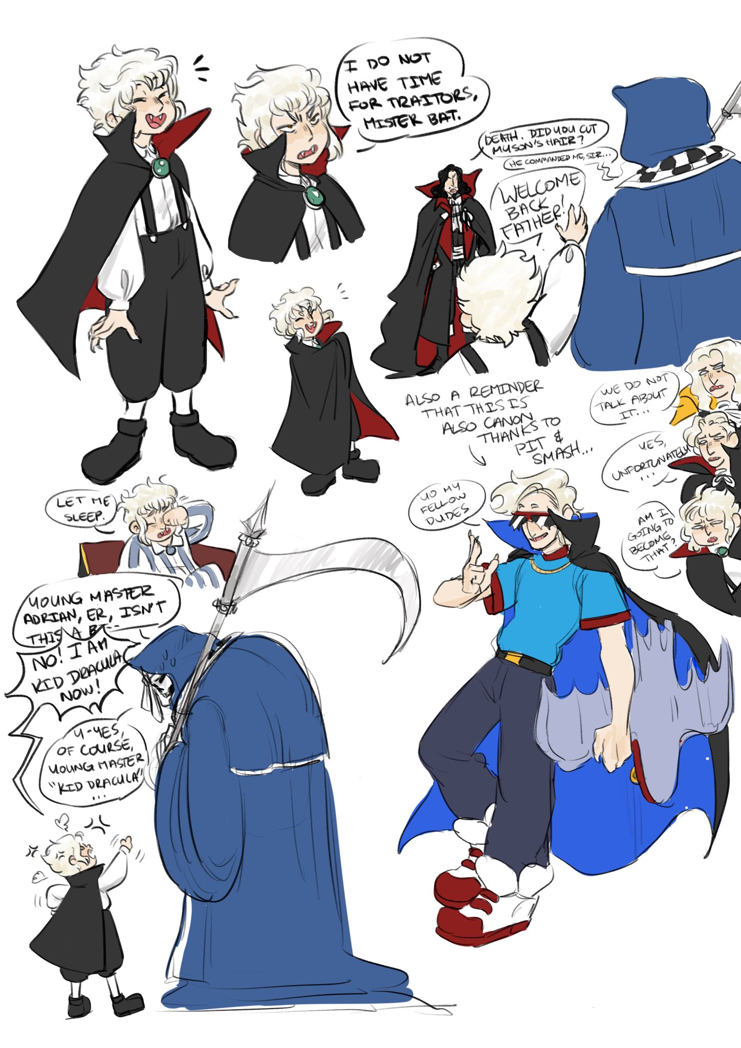 Exekyl Comms Open On Twitter I Was Challenged By Boomstorm To Fit Captain N Alucard In To The Alucard Timeline But Then I Went On A Kid Dracula Binge And Decided