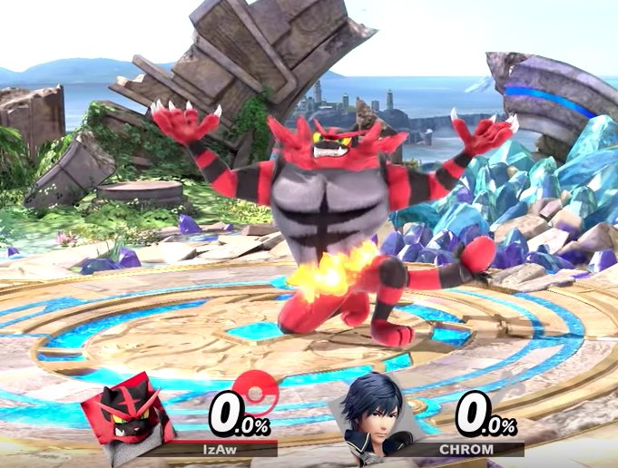 Once I saw Incineroar drop the Orton pose, it was over for you hoes.   \__0_/      |    /  \     #SmashBrosUltimate<br>http://pic.twitter.com/RPAw5W51Fb