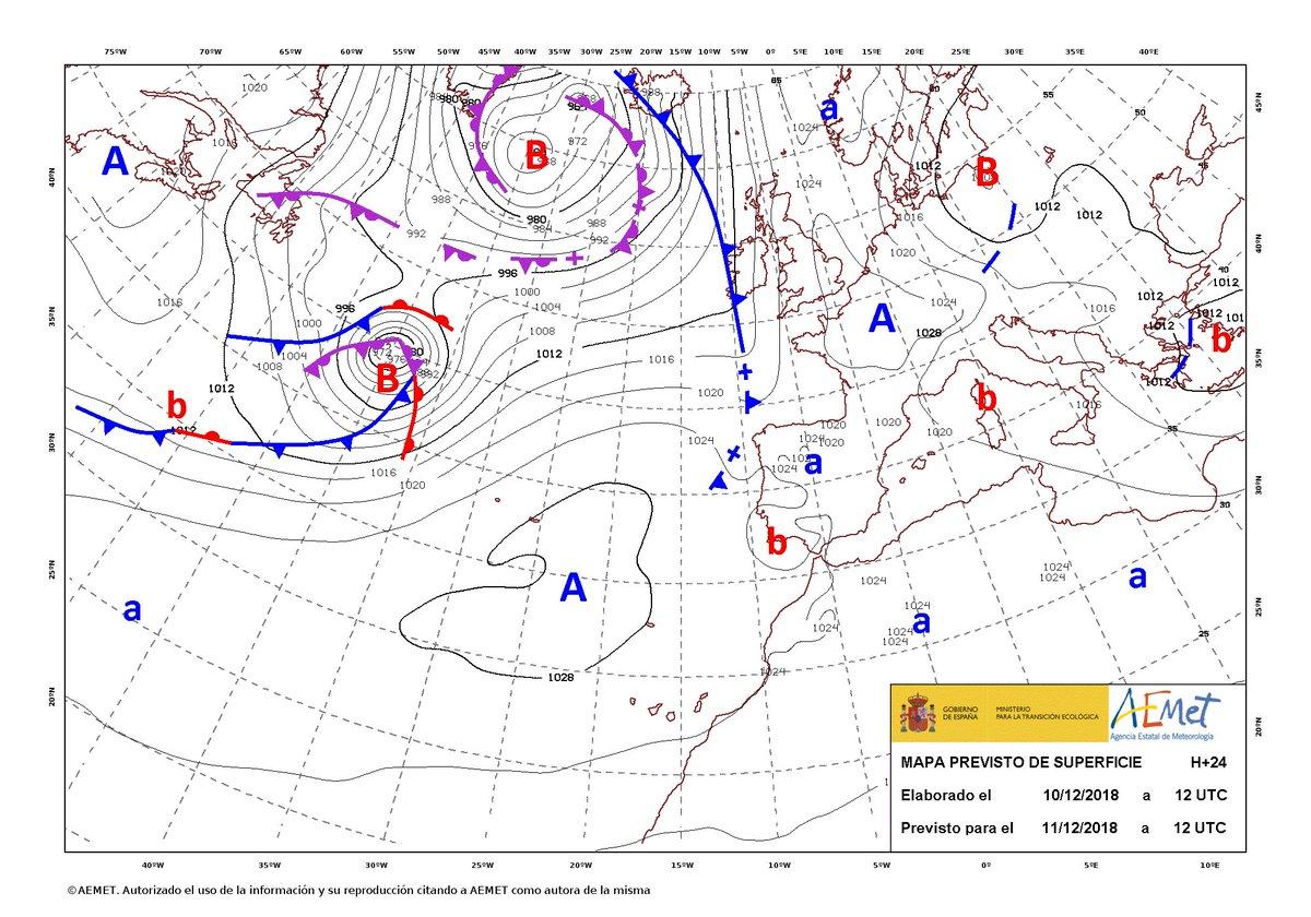 Carte De Leurope Meteo.Meteo Canaries On Twitter Carte De Fronts Pour L Europe Et L
