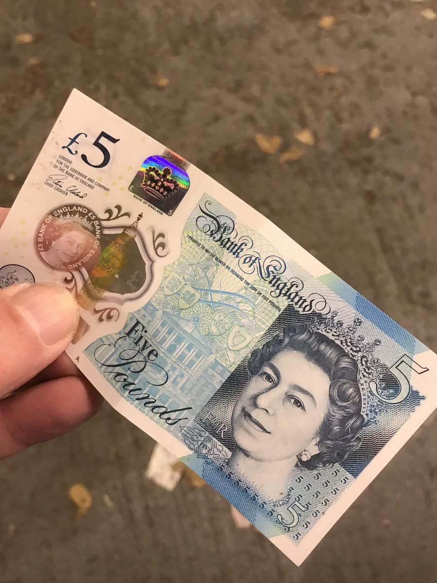 Did anyone drop this fiver in London? I've just found it.